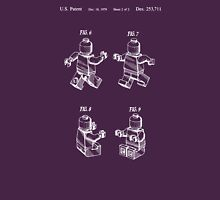 Lego Patent Toy Figure 02 Sheet 2 Of 2 White Font T-Shirt