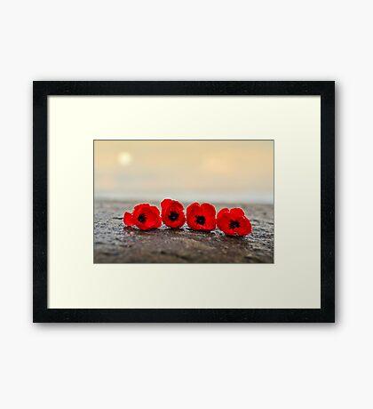 Under A Rising Sun Framed Print