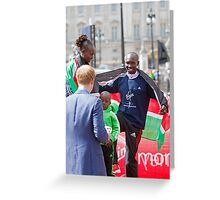 London Marathon Winners with Prince Harry Greeting Card