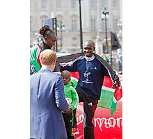London Marathon Winners with Prince Harry Photographic Print