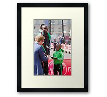 Is that plate for me Sir? Framed Print