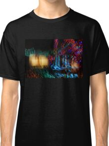 Abstract Christmas Lights - Color Twists and Swirls  Classic T-Shirt