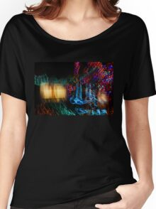 Abstract Christmas Lights - Color Twists and Swirls  Women's Relaxed Fit T-Shirt