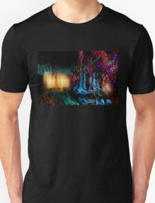 Abstract Christmas Lights - Color Twists and Swirls  Unisex T-Shirt
