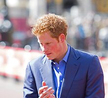 Prince Harry clapping by Keith Larby