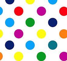 Multi Coloured Spots iPhone Case by giraffoarts