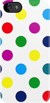 Multi Coloured Spots iPhone Case by giraffoarts