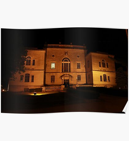 Lawrence County Courthouse After Dark South Side Poster