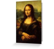 Pixel Mona Lisa Greeting Card