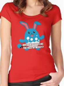 Twitch Plays Pokemon - Pokemon Emerald - Does This Look Like the Face of Mercy? Women's Fitted Scoop T-Shirt