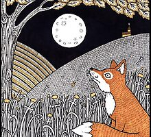 Full Moon Fox by Anita Inverarity