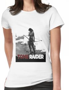 Tomb Raider Grey Womens Fitted T-Shirt