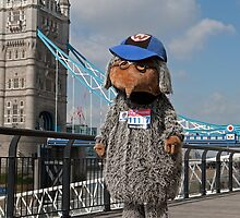 Mark Millrine dressed as a womble at Tower Bridge by Keith Larby