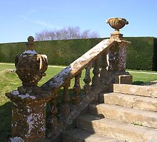 Garden steps at Montecute House by lezvee