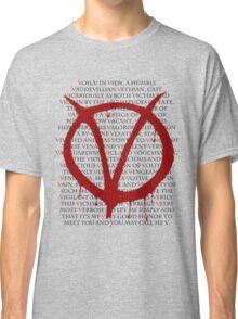 V for Vendetta Classic T-Shirt