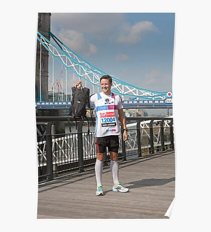 lee Ryan, fastest marathon carrying a 20lb back pack Poster