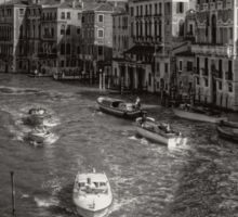 Looking North on the Grand Canal - B&W Sticker