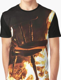 Burning Chair Graphic T-Shirt