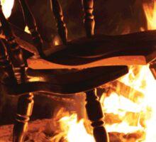 Burning Chair Sticker