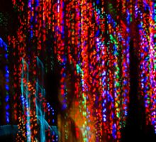 Colorful Christmas Streaks - Abstract Christmas Lights Series Sticker