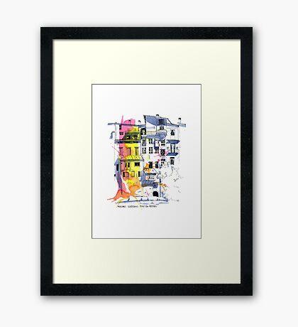 Maisons Suspendu, Pont-en-Royans, France Framed Print