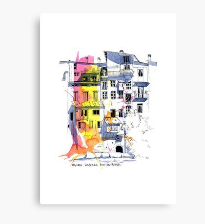 Maisons Suspendu, Pont-en-Royans, France Canvas Print