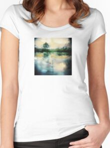 A Midnight's Summer Swan Lake Women's Fitted Scoop T-Shirt