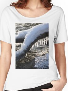 Cool Icicles Reflecting in the Waves  Women's Relaxed Fit T-Shirt
