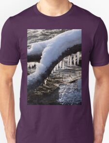 Cool Icicles Reflecting in the Waves  Unisex T-Shirt