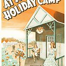 AT A HOLIDAY CAMP (vintage illustration) by ART INSPIRED BY MUSIC