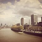 Waterloo bridge view, London by James Taylor