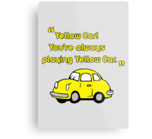 Yellow Car Metal Print