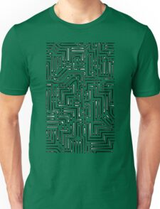 Black and White Circuit Board 1 Unisex T-Shirt
