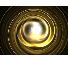 Gold Spiral Photographic Print