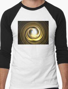 Gold Spiral Men's Baseball ¾ T-Shirt