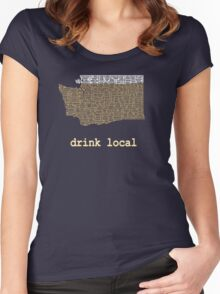Drink Local - Washington Beer Shirt Women's Fitted Scoop T-Shirt