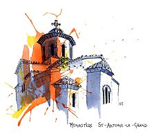 Monastere St-Antoine-Le-Grand, France Photographic Print