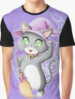 Cute witch cat Graphic T-Shirt
