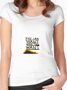 taylor swift lyrics Women's Fitted Scoop T-Shirt