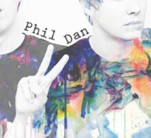 Dan and Phil watercolour Sticker
