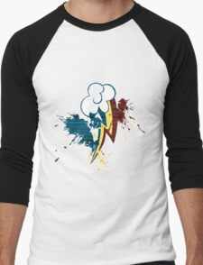 Rainbow Dash Cutie Mark Grain&Splatter Men's Baseball ¾ T-Shirt