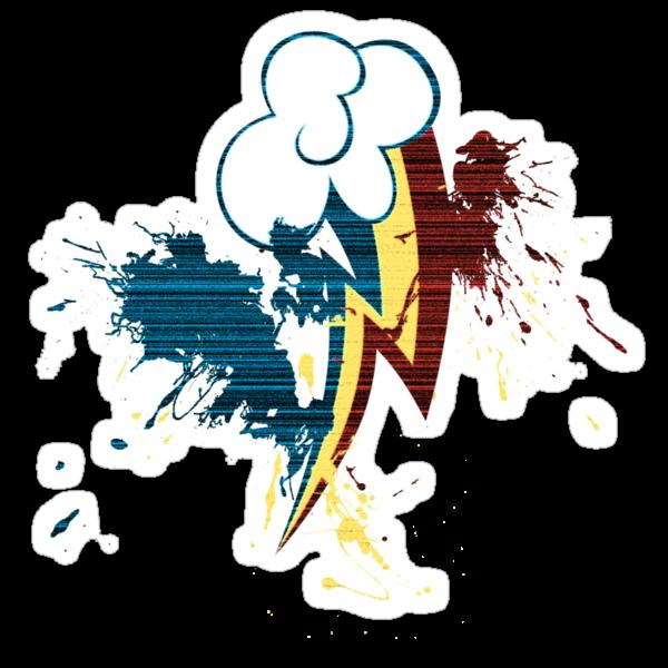 Rainbow Dash Cutie Mark Grain&Splatter by ZincSpoon