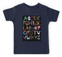 Children's Alphabet (black background) Kids Tee