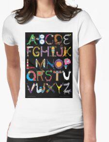Children's Alphabet (black background) Womens Fitted T-Shirt