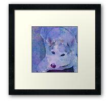 Water Color Husky Framed Print