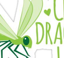 Crazy Dragonfly lady (Cute) Sticker