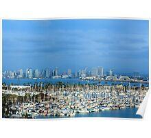 San Diego Skyline Poster