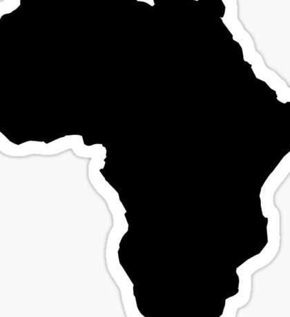 The continent of Africa map of African nation Sticker