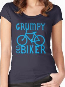 Grumpy old Biker with cycle riding bike bicycle Women's Fitted Scoop T-Shirt