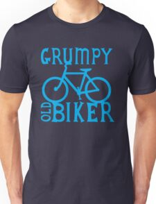 Grumpy old Biker with cycle riding bike bicycle Unisex T-Shirt